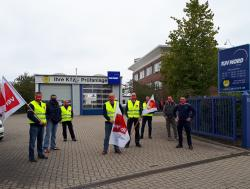 Erste Aktion in Rostock